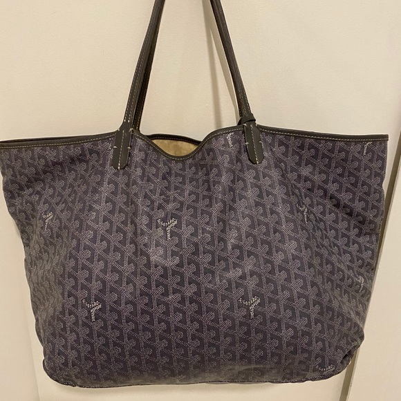 Authentic Goyard large tote grey and white
